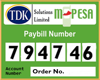 Paybill TDK Solutions Limited Online Shop in Kenya