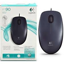 Logitech Wired Mouse M90 Black